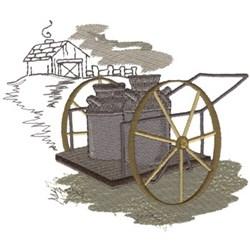Milk Cart embroidery design
