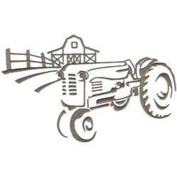 Vintage Tractor Graphic embroidery design