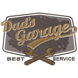 Dads Garage embroidery design