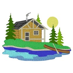 Cabin Scene embroidery design