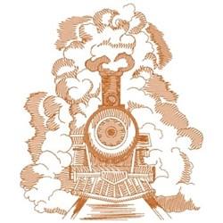 Train In Steam embroidery design