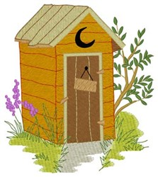 Summer Outhouse embroidery design