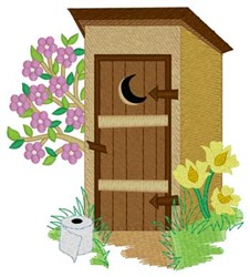 Spring Outhouse embroidery design