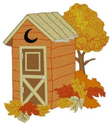 Fall Leaves Outhouse embroidery design