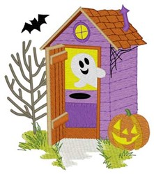 Halloween Outhouse embroidery design
