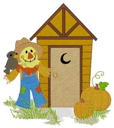 Scarecrow Outhouse embroidery design