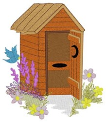 Spring Flowers Outhouse embroidery design