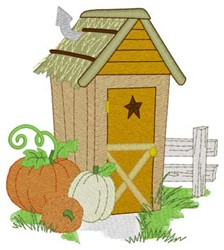 Pumpkins Outhouse embroidery design