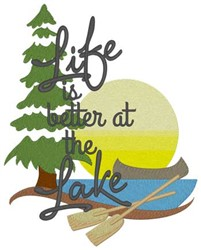 Life At The Lake... embroidery design