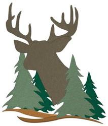 Deer In Trees embroidery design