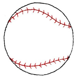 Baseball Outline Embroidery Designs Machine Embroidery