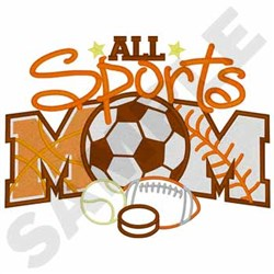 All Sports Mom embroidery design