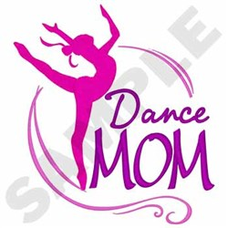 Dance Mom embroidery design