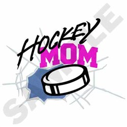 Hockey Mom embroidery design