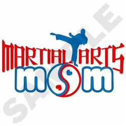 Martial Arts Mom embroidery design