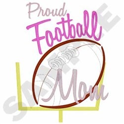 Proud Football Mom embroidery design