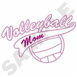 Volleyball Mom embroidery design