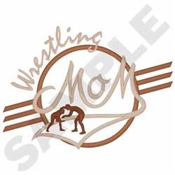 Wrestling Mom embroidery design