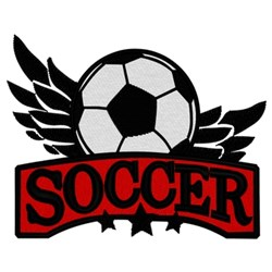 Soccer Logo embroidery design