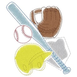 Baseball Gear embroidery design