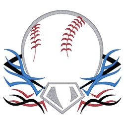 Tribal Baseball embroidery design
