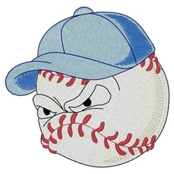 Baseball Head embroidery design