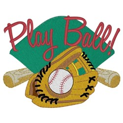 Play Ball! embroidery design