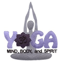 Yoga Makes Life Better embroidery design