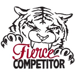 Fierce Competitor embroidery design