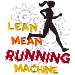 Running Machine embroidery design