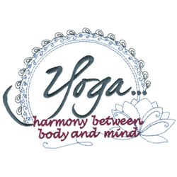 Yoga Harmony embroidery design