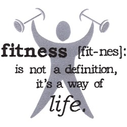 Fitness Is The Way embroidery design