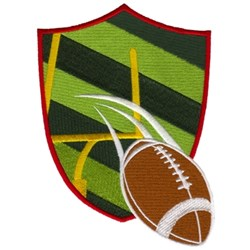 Football Crest embroidery design
