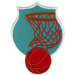 Basketball Crest embroidery design