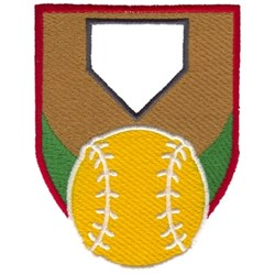 Softball Crest embroidery design