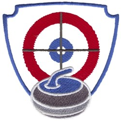 Curling Crest embroidery design