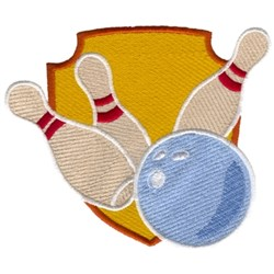 Bowling Crest embroidery design