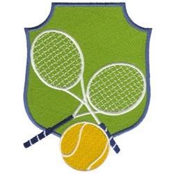 Tennis Crest embroidery design
