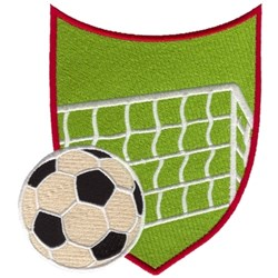 Soccer Crest embroidery design