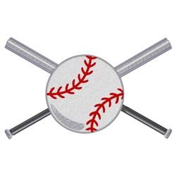 Baseball And Bats embroidery design