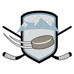 Hockey Logo embroidery design