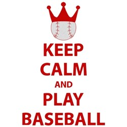 Keep Calm Play Baseball embroidery design