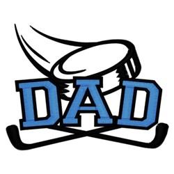 Hockey Dad embroidery design