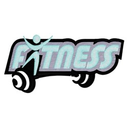Fitness Logo embroidery design