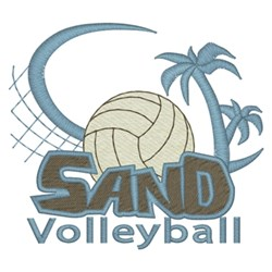 Sand Volleyball embroidery design