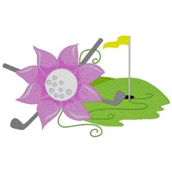 Ladies Golf embroidery design
