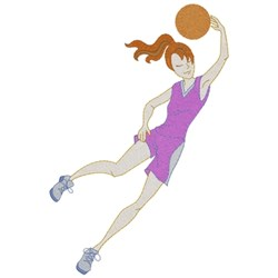Basketball Girl embroidery design