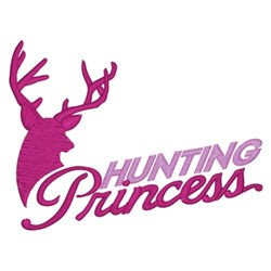 Hunting Princess embroidery design