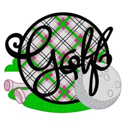 Womens Golf Logo embroidery design