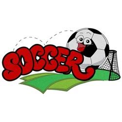 Kids Soccer Logo embroidery design